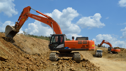 DMF İnşaat büyük projelere yeni Hitachiler ile hız verdi