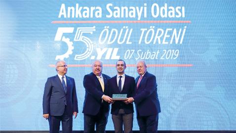 HİDROMEK'e Ankara Sanayi Odasından Ödül