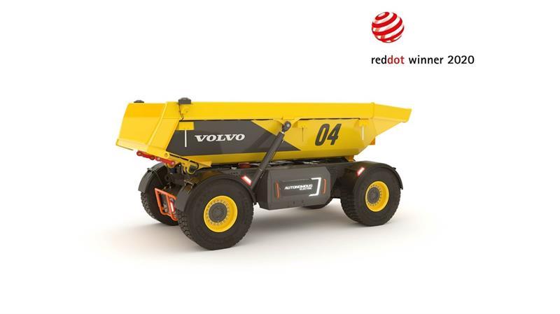 Otonom Volvo TA15 yük taşıyıcıya Red Dot tasarım ödülü