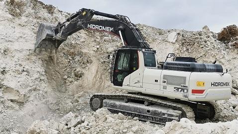 İş Makinası - Traktaş'ın taş ocağında HİDROMEK ile kesintisiz üretim