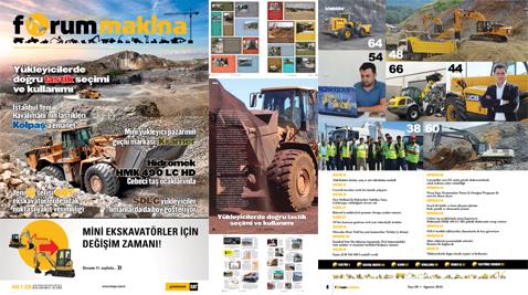 Forum Makina Dergisi Ağustos 2016 sayısı yüklendi