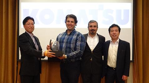 Komatsu'dan Temsa İş Makinaları'na başarı ödülü