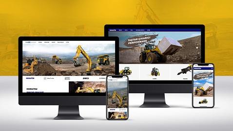 Komatsu ve Temsa İş Makinaları web siteleri yenilendi