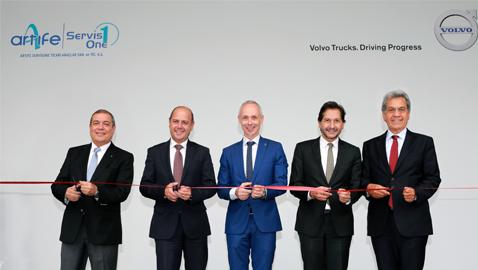 Volvo Trucks'ın yeni servisi Artıfe ServisOne'ın açılışı yapıldı