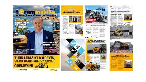 Forum Makina dergisi 65 inci sayısı internet sitemize yüklendi