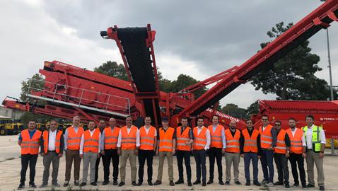 İş Makinası - Terex Finlay İrlanda ekibi Temsa İş Makinaları ile buluştu