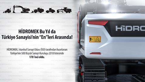 İş Makinası - HİDROMEK, bu yıl da Türkiye'nin en büyükleri arasında yer aldı