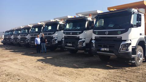 Güvensoy İnşaat, ilk Volvo kamyonlarını aldı