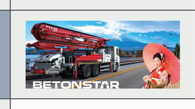 İş Makinası - BETONSTAR ihracat pazarlarına Japonya'yı da ekledi