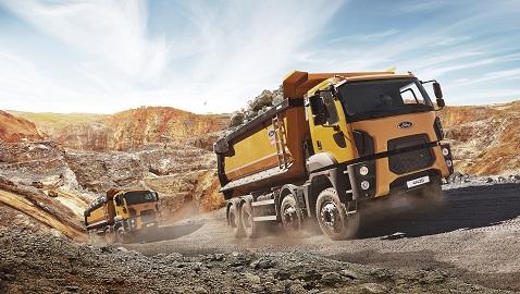 İş Makinası - Her 3 inşaat kamyonundan biri Ford Trucks