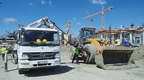 İstanbul Yeni Havalimanı inşaatında, İGA bünyesindeki tüm makine ve araçların lastikleri Kolpaş'a emanet