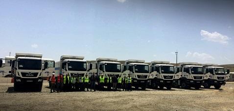 ERG İnşaat'tan 100 milyon Liralık MAN kamyon ve çekici yatırımı