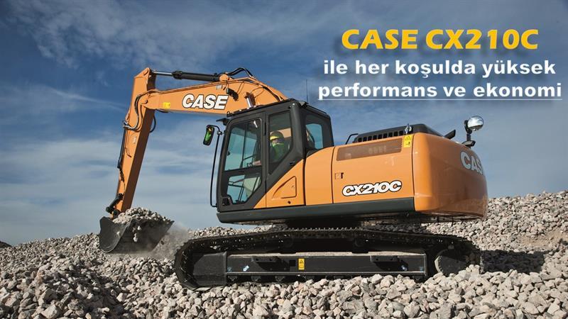 CASE CX210C ile her koşulda yüksek performans ve ekonomi