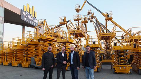 İş Makinası - Acarlar Makine'den Fatih Vinç'e 100 adetlik rekor teslimat
