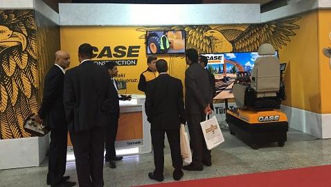 CASE iş makineleri, Bursa Blok Mermer Fuarında göz doldurdu