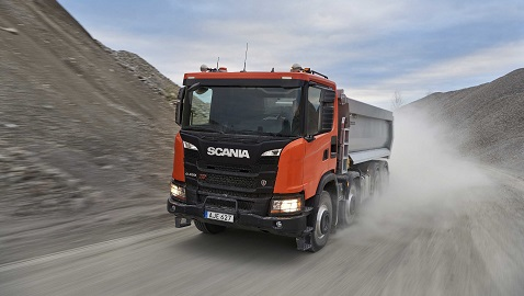 Scania'dan zorlu inşaat sahaları için yeni XT Serisi kamyonlar