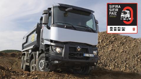 İş Makinası - Renault Trucks'tan sıfıra sıfır faiz kampanyası