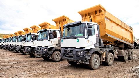 İş Makinası - Güvensoy İnşaat'ın maden projeleri, Renault Trucks K serisine emanet
