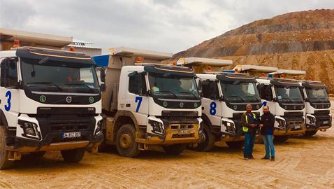İş Makinası - Gökçenay İnşaat maden sahası için Volvo Trucks FMX 500 yatırımı yaptı