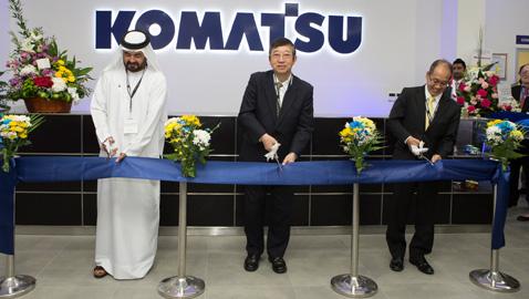 Komatsu 17'nci eğitim merkezini Dubai'de açtı