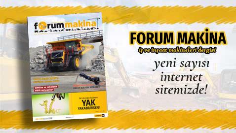 Forum Makina Dergisi 82. sayısı web sitemizde