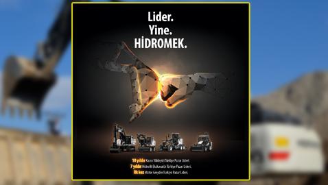 İş Makinası - HİDROMEK greyderlerde de Türkiye pazar lideri