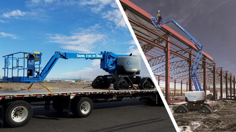 Zorlu inşaat sahalarında yükselmek için yeni çözüm... Genie Z62 40 TraX