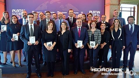 HİDROMEK üretim teknolojisine Platin Global 100 Ödülü