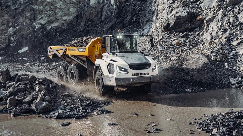 Liebherr yeni nesil belden kırma kaya kamyonlarını tanıttı