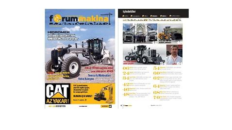 Forum Makina dergisi 64 üncü sayısı internet sitemize yüklendi