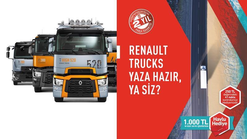 Renault Trucks'tan tüm modeller için geçerli yaz kampanyası